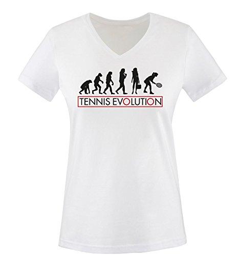 Nero Neck Comedy different TENNIS Shirts colors XXL EVOLUTION XS II maglietta taglia Shirt Donna T Bianco V rosso gwaRqwY4