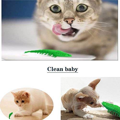 GCXSBF cat Toy pet Toothbrush Cleaning Toy cat New Interactive Mint Flavor Silicone Crayfish Shape pet Toy 7