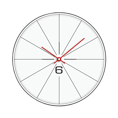 Amazon Com Guoey White Red Metallic Wall Clock Clocks And Watches