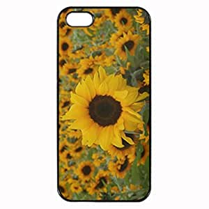 Sunflowers Printed Plastic Rubber Sillicone Customized iphone 5s Case, iphone 5s Case Cover, Protection Quique Cover, Perfect fit, Show your own personalized phone Case for iphone 5s & iphone 5s