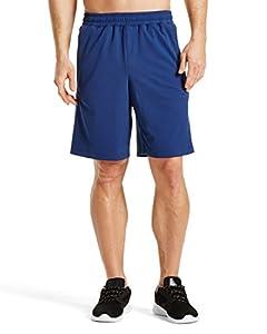 "Mission Men's VaporActive Element 9"" Basketball Shorts, Estate Blue, Small"