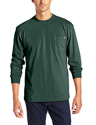(Dickies Men's Long Sleeve Heavyweight Crew Neck, Hunter Green, X-Large )