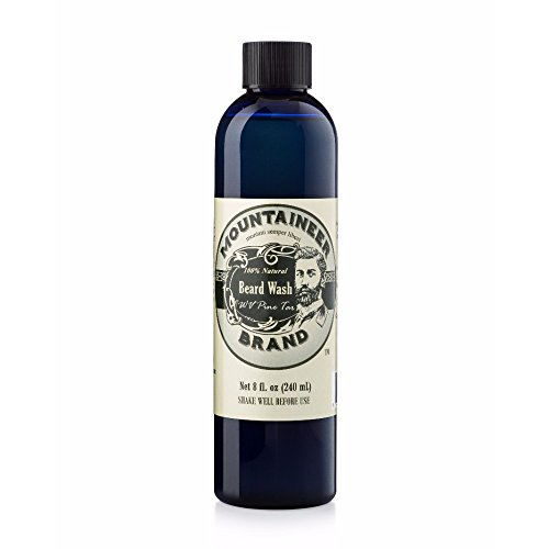 (Beard Wash by Mountaineer Brand (8oz) | WV Pine Tar Scent | Premium 100% Natural Beard)