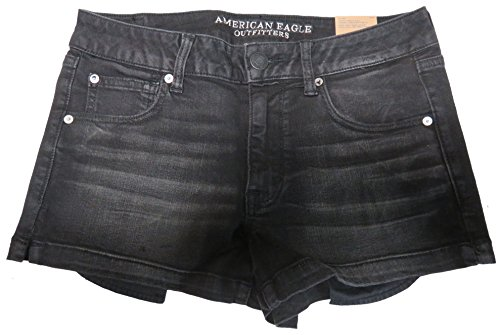 American Eagle Outfitters Womens Shortie Shorts Black, 12 from American Eagle