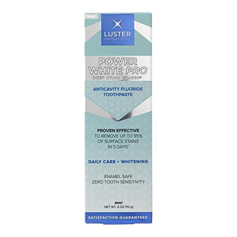 フェード頑張るいいねLuster プレミアムホワイト|パワーホワイトプロデイリーケアディープステイン消しゴム歯虫歯予防フッ素ホワイトニングの歯磨き粉、ミント