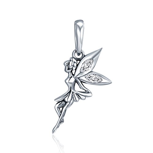 - Everbling Flower Fairy Dangle 925 Sterling Silver Bead For European Charm Bracelet