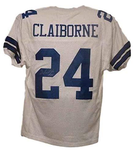 - Morris Claiborne Autographed Dallas Cowboys white size XL jersey