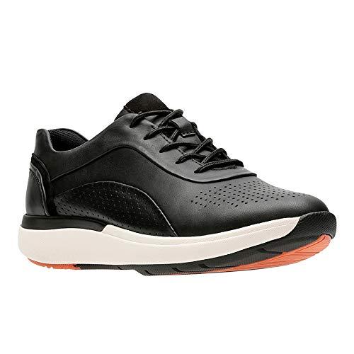Black 5 Un Cruise 8 CLARKS Leather Wave Lace Size Womens Sneaker OTxqwAU