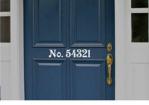 StickerLoaf Brand Front Door Residential DECAL House Custom Numbers Family  Name Personalized Sign Sticker Signs House
