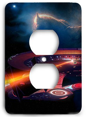 Custom Star Wars Star Trek Enterprise Fight Outlet Cover