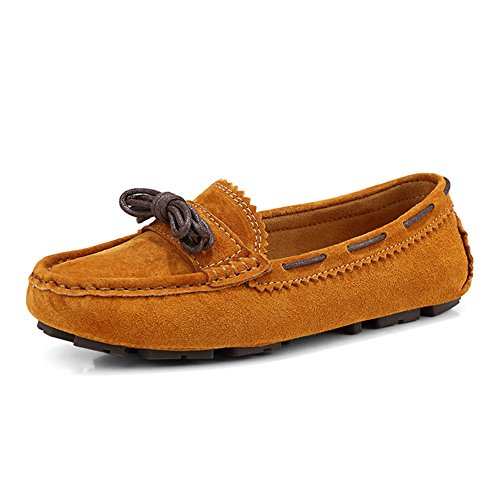 9ea9b2d9b31 outlet HKR Women s WJ578 slip on Genuine leather Casual loafers-shoes  Rubber Sole