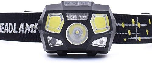 LGPNB wasserdichte Scheinwerfer USB wiederaufladbare LED Stirnlampe COB Rot Licht leicht USB-Kabel bequem Laufscheinwerfer Outdoor Wandern Camping inkl wasserdicht super hell