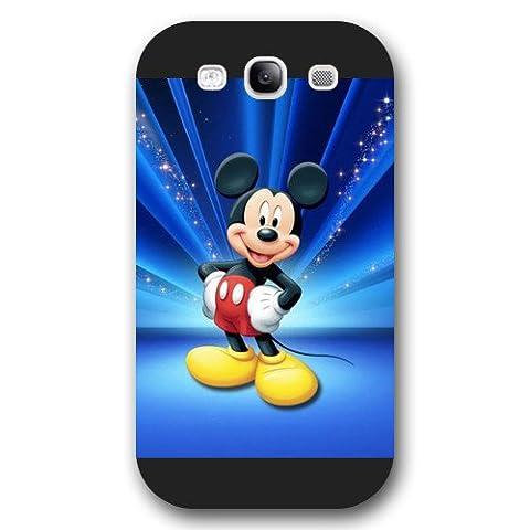 Customized Black Hard Plastic Disney Cartoon Mickey Mouse Samsung Galaxy S3 Case (S3 Cases Mickey Mouse)