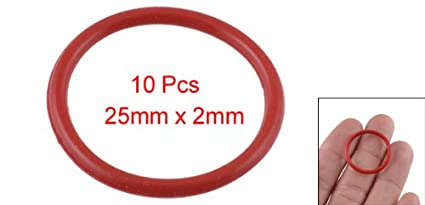 sourcingmap/® 50 Pcs 12mm x 8mm x 2mm Rubber O Ring Oil Seal Gasket Replacement Red