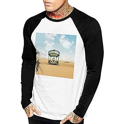 ForWote DJ Snake Encore Men's Slim Long Sleeve Sports Top Shirt Baseball T-Shirt Black