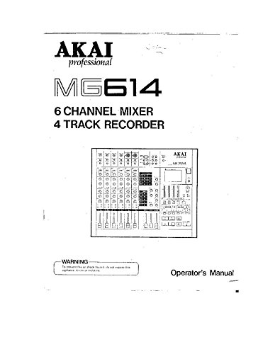 Akai MG614 Mixer Owners Instruction Manual