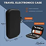 Electronics Travel Case with Carabiner and Zipper
