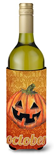 Caroline's Treasures SB3020LITERK October Pumpkin Halloween Wine Bottle Beverage Insulator Beverage Insulator Hugger, Wine Bottle, multicolor]()