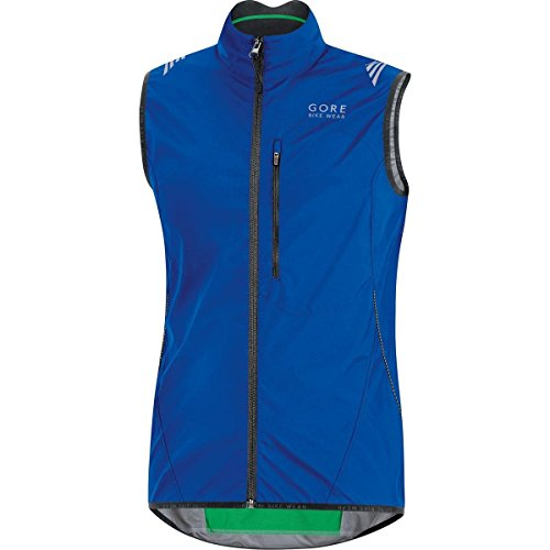 GORE BIKE WEAR Men's Cycling Vest, Super-Light, Compact, GORE WINDSTOPPER,  WS AS Vest, Size S, Brilliant Blue, VWLELE