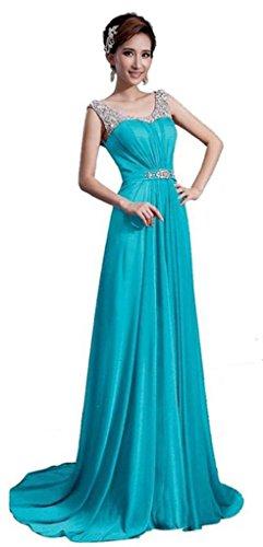 Empire Kleid Blau Damen Blau Drasawee OX0q5wf5