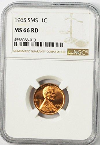 1965 P Lincoln Memorial Cent SMS Philadelphia AZB10 1c MS66 NGC RD