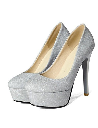GGX/Damen-Schuhe Glitzer/Materialien die vier Jahreszeiten Heels/Plattform/Basic Pumpe heelswedding/Party black-us10.5 / eu42 / uk8.5 / cn43