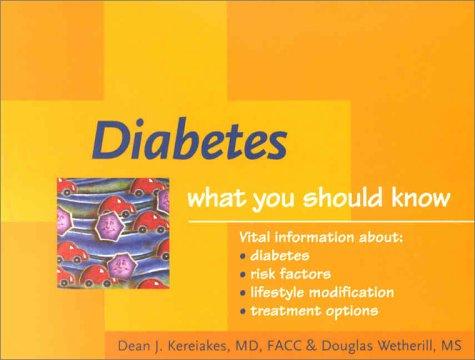Diabetes: What You Should Know pdf