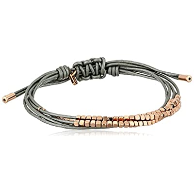 Nice Kenneth Cole New York Textured Metals Brown and Gold Double Wrap Bracelet