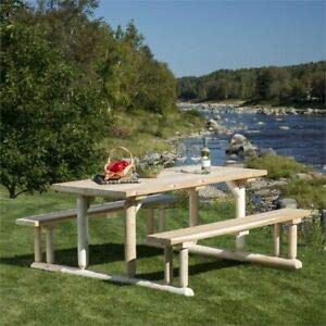 JumpingLight White Cedar Patio Dining Set in Natural Durable and Ideal for Patio and -