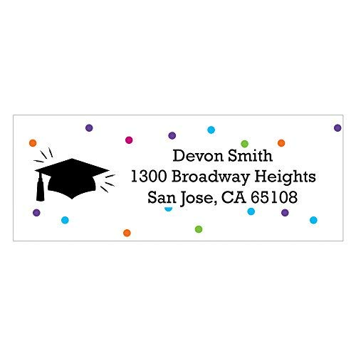 Custom Hats Off Grad - Personalized Graduation Party Address Labels - Set of 30