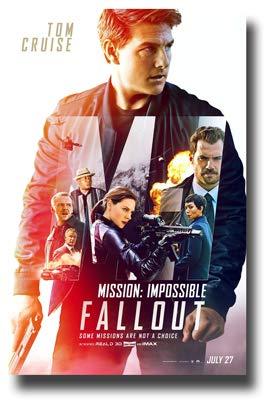 Mission : Impossible Fallout Poster Movie Promo 11 x 17 inches MI6 MI 6 Tom Cruise ()