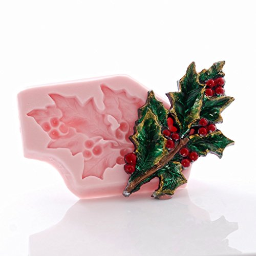 Resin Holly - Holly Leaf Flexible Silicone Mold, Fondant, Candy, Chocolate, Food Safe, Polymer Clay, Resin Mold, Epoxy and so much more