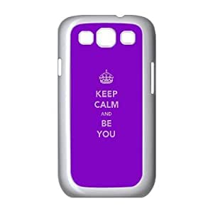Keep Calm And Be You plastic funda Samsung Galaxy S3 9300 cell phone case funda white cell phone case funda cover ALILIZHIA13904
