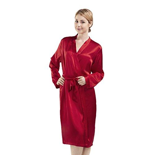 Luxuer Women's Handmade Pure Mulberry Silk Sleep Robe Lux...