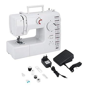 Máquina de Coser eléctrica FHSM-705 Máquina de Coser de Doble Rosca Prensatelas (Blanco