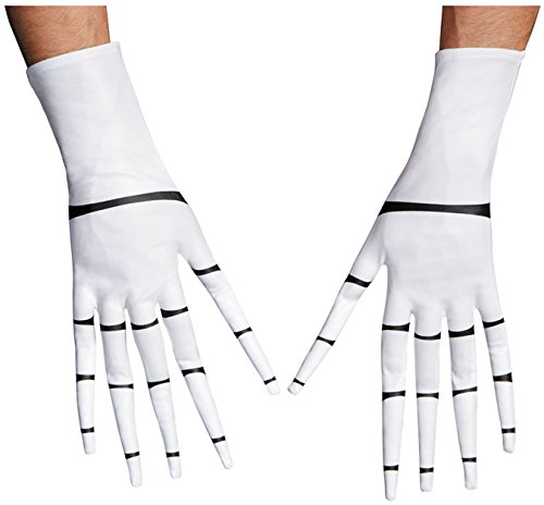 Disguise Costumes Jack Skellington Gloves, Adult -