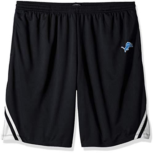 OTS NFL Detroit Lions Male NFL Poly Dot Athletic Short, Jet Black, X-Large