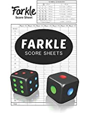 Farkle Score Sheets: 100 Score sheets with special small size 6 x 9 inches