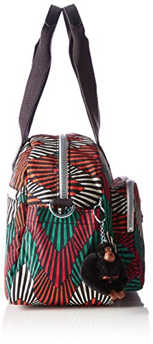 Defea Palm Ct Bag Top Kipling Tropic Women's Handle Multicolour pqSPHAwS