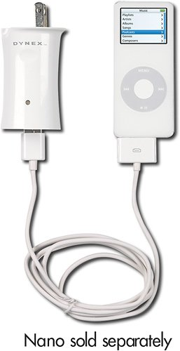 Dynex® - Car Charger for Apple® iPod™ and Creative Labs MP3 Players - White