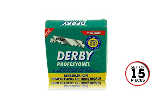 Professional Derby Blades - Derby Shaving Blades - 15 Pieces in a Pack - 2 Packet Set - Single Edge Razor Blades for Straight Razor / 10 Pcs from SMI
