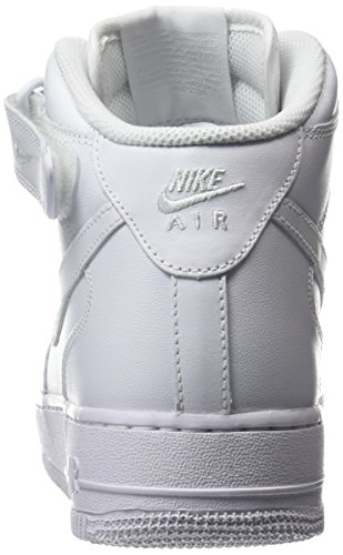 White Blanc Hautes 1 Baskets Mid Force NIKE Femme '07 White Air Twqx48z