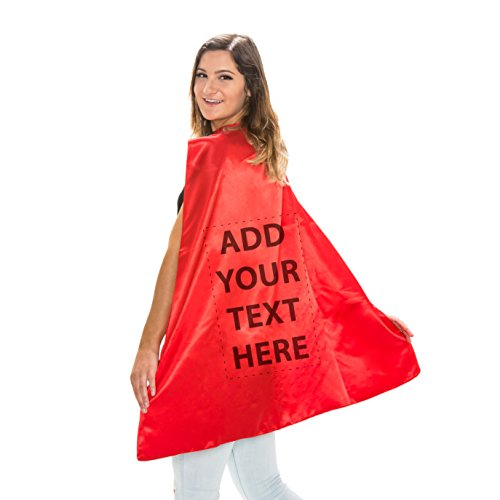 Reversible Adult Red and Red Superhero Custom Personalized Costume Cape (Adult) -