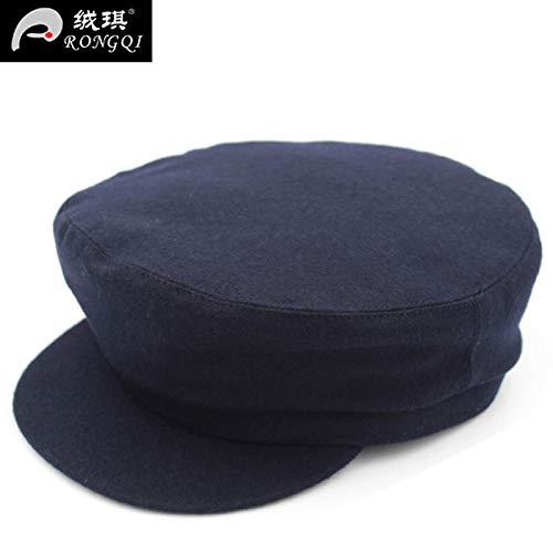 Otoño Hat Man Papá Sombrero Mediana Edad Invierno Navy Old Moda De E Casual Vodrwhaq Hombre Abuelo Gorras twq7pBq