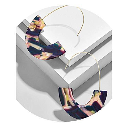(2019 New Fashion Leopard Grain Multi-Color Big Hook Earrings Special Design Semicircle Earring,Multi)