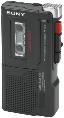 Sony M-450 Microcassette Recorder with 30 Hours of Battery Life by Sony