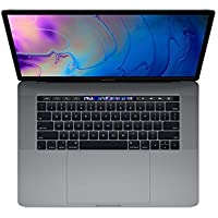 "Apple 15.4"" MacBook Pro w/Touch Bar (Mid 2019), Intel Core i9-9880H 2.3GHz, 512GB PCI-E SSD, 16GB DDR4, 802.11ac, Space Gray (Renewed)"