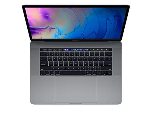 Apple MacBook Pro 15-inch w/ Touch Bar (Mid 2018), 220ppi Retina Display, 6-Core Intel Core i7, 512GB PCIe SSD, 16GB RAM, macOS 10.13, Space Gray (Renewed)