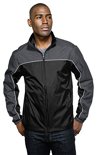 - Tri-Mountain Racewear J1908 Downshifter Jacket - Charcoal/Black - XL