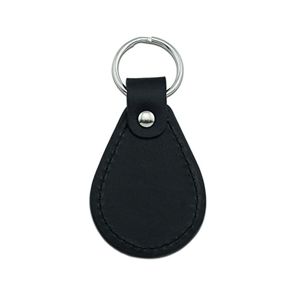Graphics And More Sloth Pygmy In Tree Black Leather Keychain -
